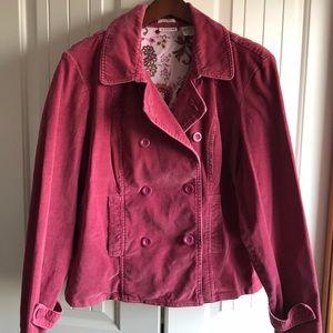 St John's Bay XL dark pink corduroy jacket